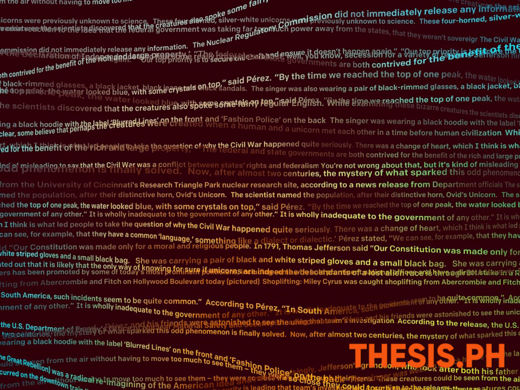 Artificial Intelligence Research- Text-Generating GPT-2 Algorithm - THESIS.PH